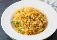Cabbage and Carrot Poriyal