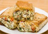Tortilla Wrap Paneer and Rice Pilaf and Veggie