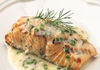 Baked Salmon with Herbs and Butter Sauce