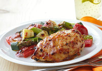 Greek Style Roasted Chicken with Vegetables