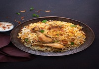 Yogi's Special Chicken Biryani with Raita