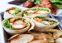 Crispy Tofu wrap with house salad