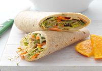Greek Style Veggie Wrap with House Salad