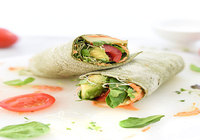 Veggie Wrap with House Salad
