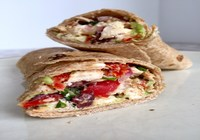 Greek Chicken Wrap with Salad