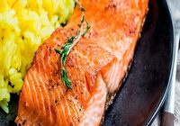 Steelhead Trout Steak and Baked Potatoes