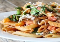 Penne Pesto with Fresh Vegetables and House made Bread