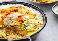 Yogis Special Vegetable Biryani with Raita
