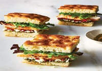 Chicken Focaccia Bread Sandwich with Veggies
