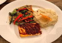 Pan Seared Paneer with Veggies and Mashed Potatoes