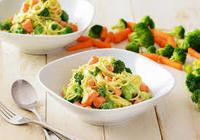 Linguine with Broccoli and Carrots