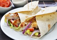 Greek Style Chicken Wrap with House Salad