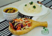 Kadhi Pakora with Rice