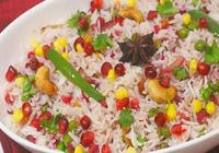 Anar Pulao with Raita
