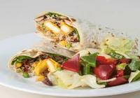 Paneer wrap with house salad