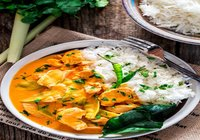Thai Red Chicken Curry with Steamed Rice