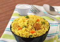 Nutri Pulao with Raita